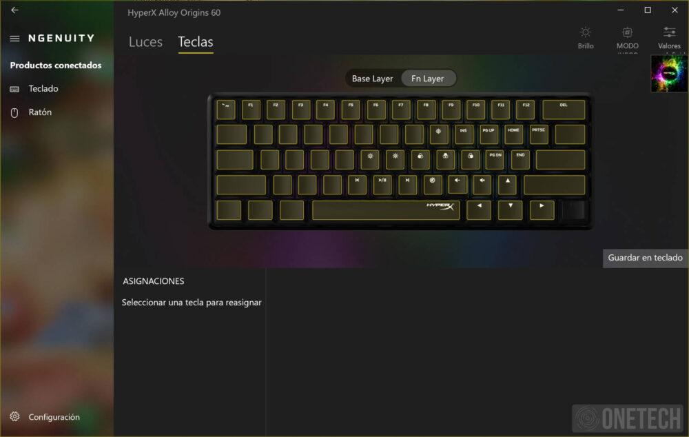 HyperX Alloy Origins 60, un teclado compacto para gamers - Análisis 8
