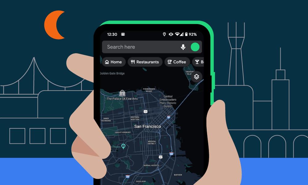 El tema oscuro de Google Maps comienza a estar disponible para todos