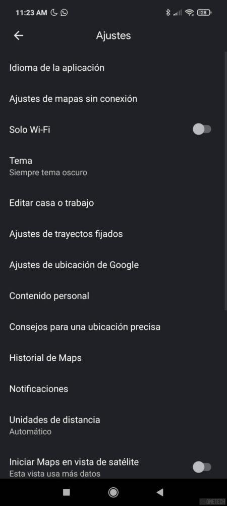 El tema oscuro de Google Maps comienza a estar disponible para todos 1
