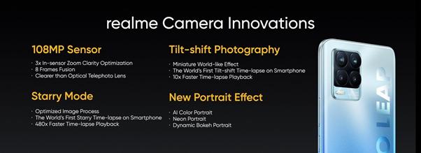 El Realme 8 Pro estrenará cámara de 108MP 10