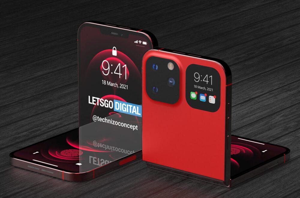 Estos renders conceptuales nos hacen soñar con el iPhone plegable de Apple