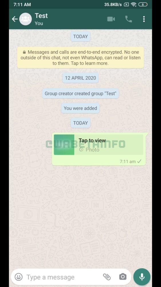 WhatsApp trabaja en fotos que desaparecen en cuanto las ve el destinatario 10