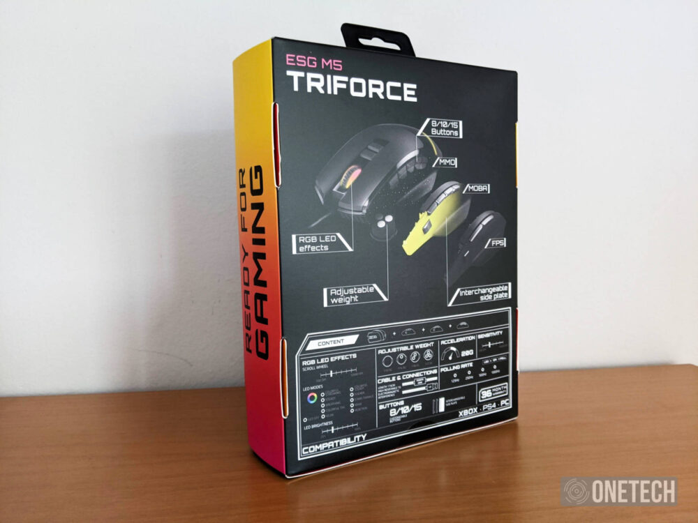 ESG M5 Triforce, el ratón gaming 3 en 1 de Energy Sistem 1