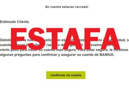 Si recibes un mail de Bankia diciendo que tu cuenta está cerrada, ten cuidado, es una estafa 2