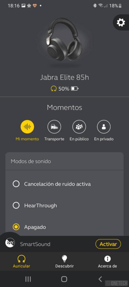 Jabra Elite 85h, auriculares inalámbricos con cancelación de ruido activa - Análisis 10