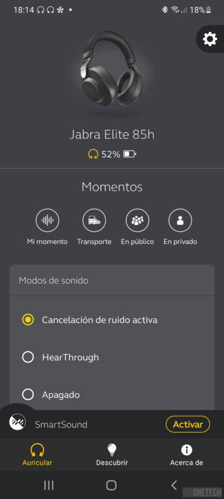 Jabra Elite 85h, auriculares inalámbricos con cancelación de ruido activa - Análisis 13
