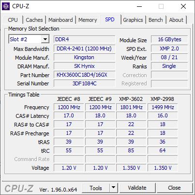HyperX FURY DDR4 RGB 3600Mhz - Análisis 7