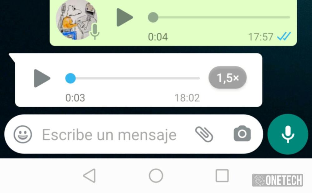 WhatsApp ya permite cambiar la velocidad de los audios 2