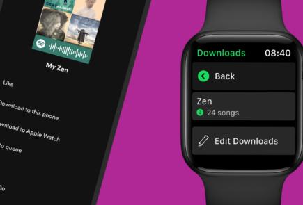 Ya puedes descargar música de Spotify en tu Apple Watch 4