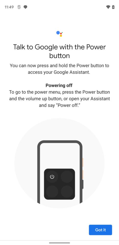 Google Assistant podrá apagar el teléfono en Android 12 1