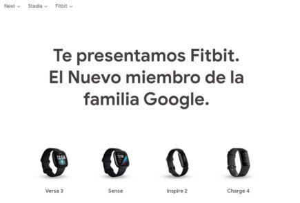 Dispositivos Fitbit en la Google Store