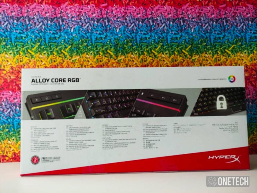 HyperX Alloy Core RGB, un completo teclado gamer por poco dinero - Análisis 2