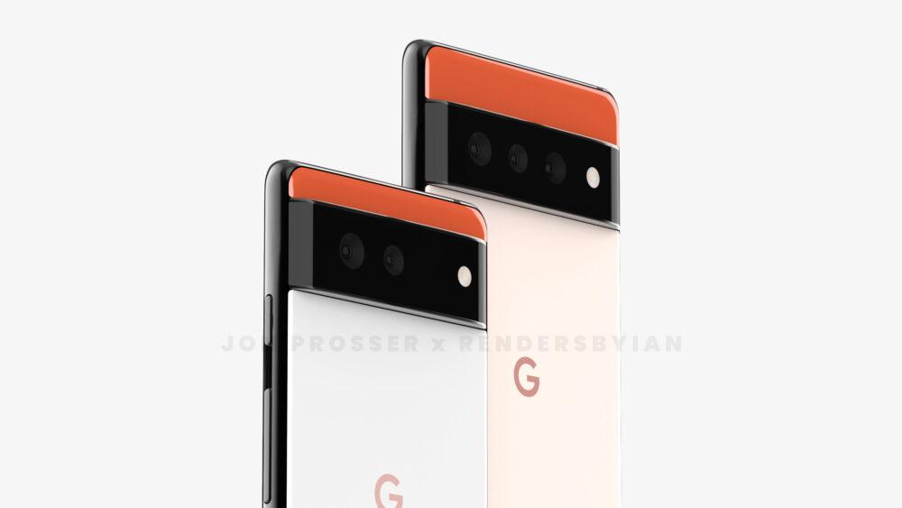Aparecen renders que muestran el presunto aspecto de los Google Pixel 6 y Pixel 6 Pro 9