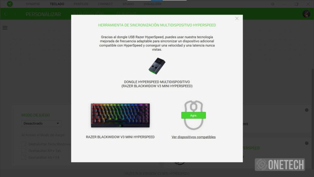 Razer BlackWidow V3 Mini HyperSpeed: teclado compacto e inalámbrico - Análisis 16