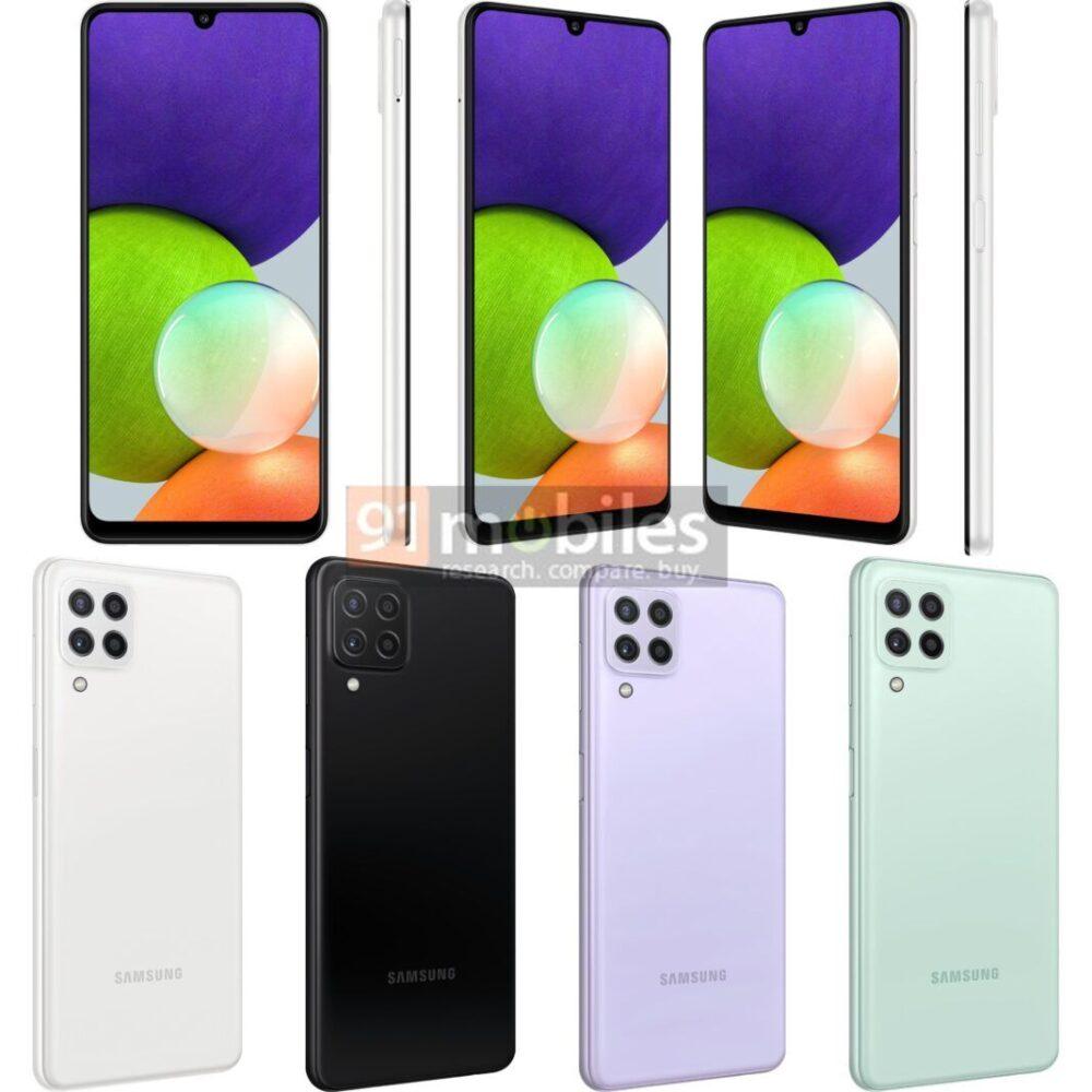 Los nuevos Samsung Galaxy A22 se filtran en imágenes y especificaciones