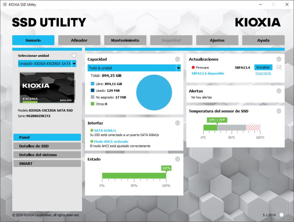 Kioxia Exceria SATA SSD 960 GB - Análisis 9