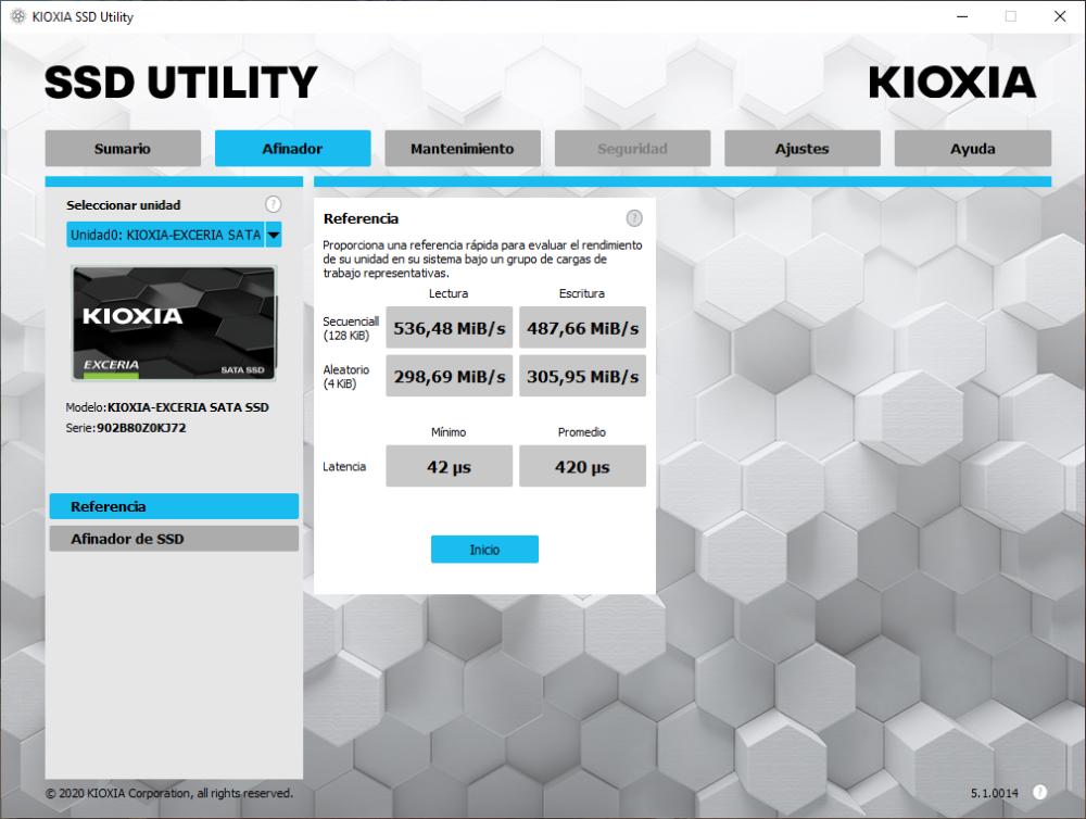 Kioxia Exceria SATA SSD 960 GB - Análisis 10