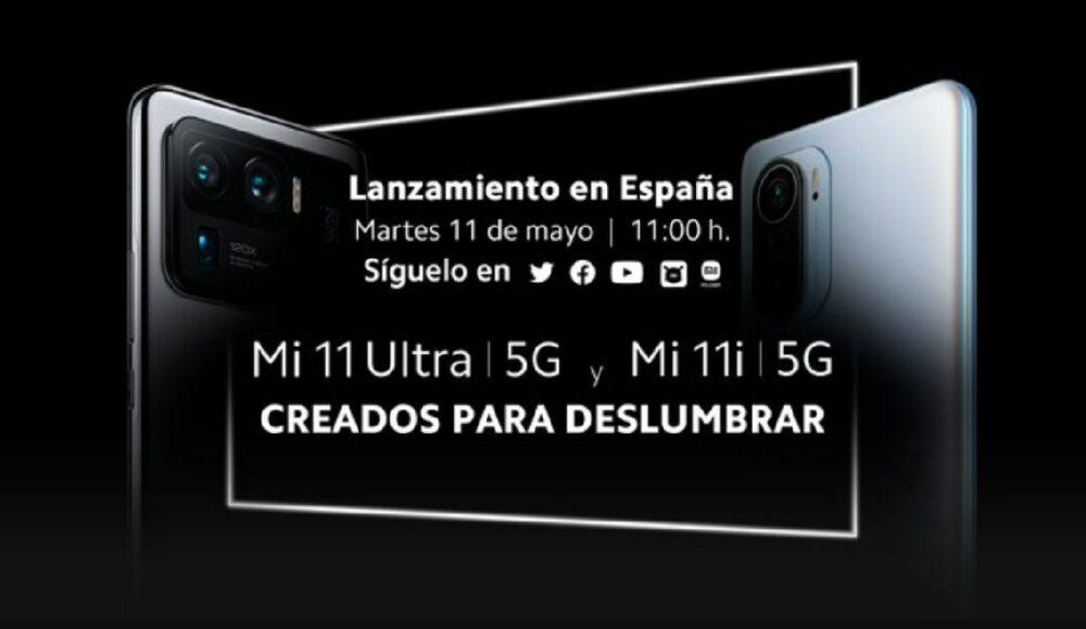 Los Xiaomi Mi 11 Ultra y Mi 11i se presentarán en España el 11 de Mayo 1