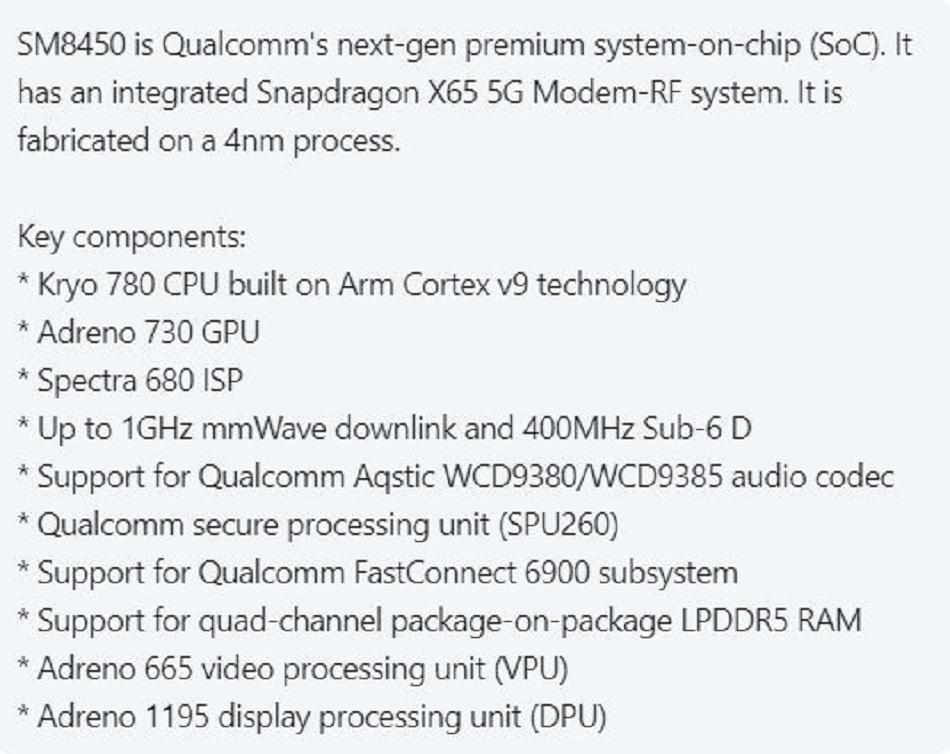 Snapdragon SM8450