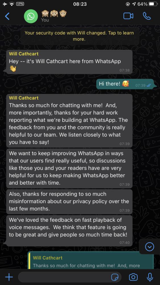 Responsables de WhatsApp confirman las funciones en las que trabajan 4