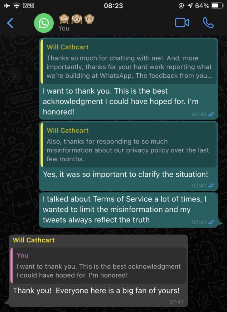 Responsables de WhatsApp confirman las funciones en las que trabajan 2