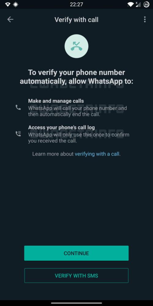 WhatsApp verificará tu móvil automaticamente mediante una llamada 2
