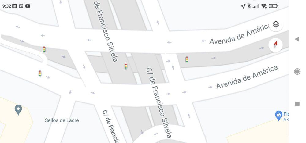 Google Maps ya muestra la localización de los semáforos en España 1