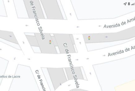 Google Maps ya muestra la localización de los semáforos en España