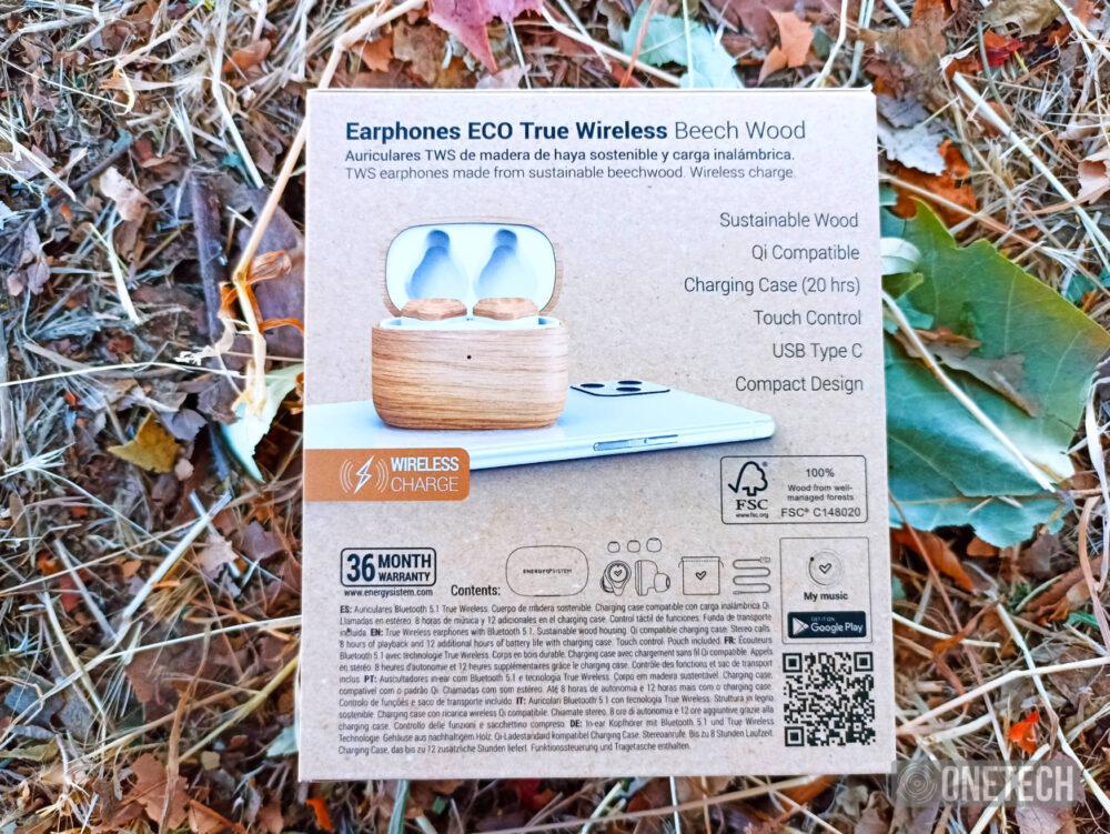 Earphones Eco True Wireless Beech Wood: auriculares