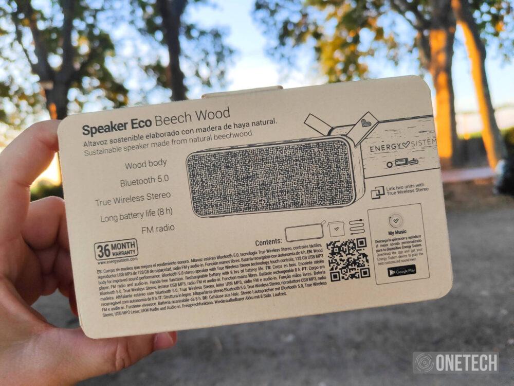 "Speaker Eco Beech Wood: el altavoz ""de madera"" de Energy Sistem - Análisis 2"