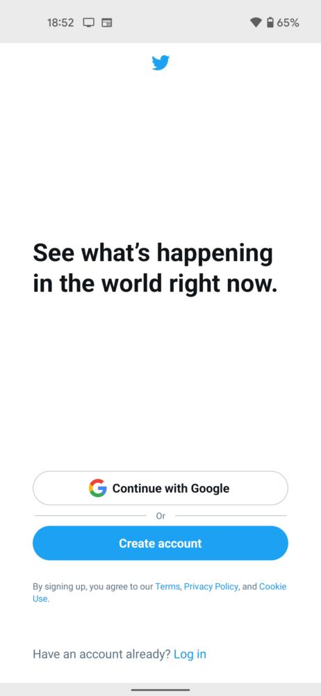 Twitter ya permite iniciar sesión con tu cuenta de Google, pero solo en la beta 2