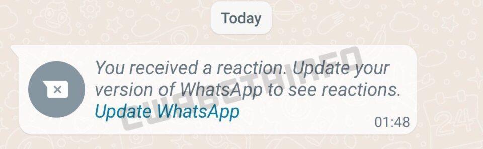 WhatsApp permitirá reaccionar a los mensajes en un futuro
