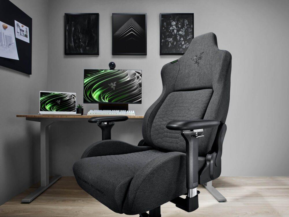 Razer amplia su gama de sillas Iskur incluyendo una versión en tela y XL