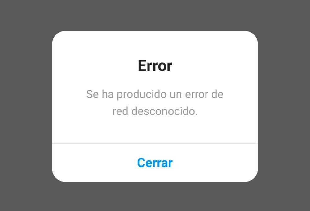 Instagram está caído y no permite acceder a la aplicación