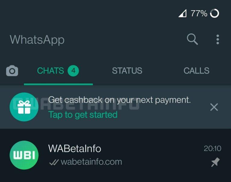 WhatsApp quiere incentivar el uso de pagos a través de la App añadiendo la función de