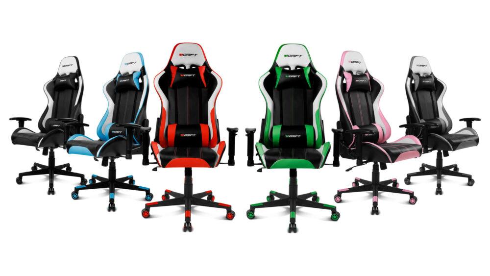 DR175 y DR275, las nuevas sillas gamer de Drift 1