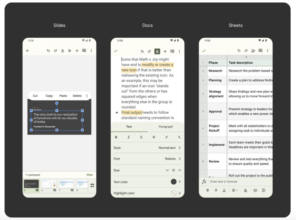 Documentos, Hoja de cálculo y Presentaciones de Google con Material Yor