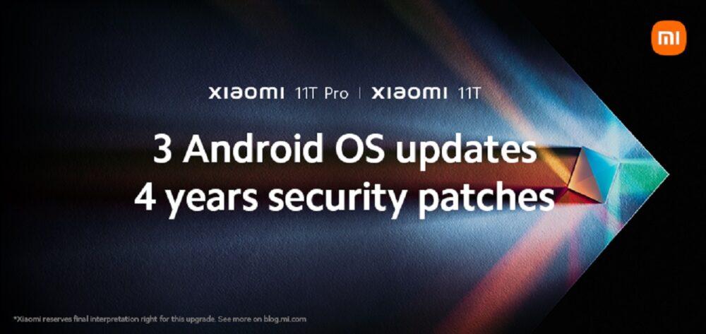 Xiaomi promete tres actualizaciones de Android y cuatro años de parches con los Xiaomi 11T 1