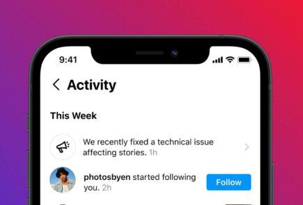 Instagram se prepara para informarte cuando sufra una caída y ayudarte ante el bloqueo de tu cuenta 1